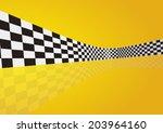 checkered stripes 3d | Shutterstock .eps vector #203964160