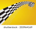 checkered stripes 3d | Shutterstock .eps vector #203964169