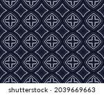 Blue Pen Pattern. Ink Cloth...