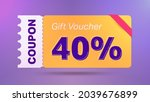 40  coupon promotion sale for... | Shutterstock .eps vector #2039676899