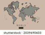 world map   world map... | Shutterstock .eps vector #2039690603