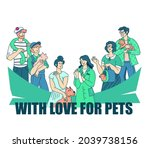 veterinary clinic banner with... | Shutterstock .eps vector #2039738156