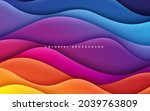 colorful papercut background... | Shutterstock .eps vector #2039763809