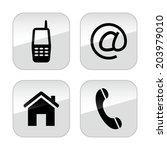 contact buttons set | Shutterstock . vector #203979010
