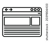 browser window icon outline...