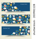 vector banners collection of... | Shutterstock .eps vector #203981128