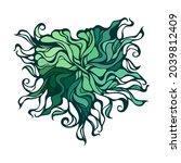 abstract heart vignette pattern.... | Shutterstock .eps vector #2039812409