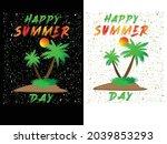 happy summer day and moonlight | Shutterstock .eps vector #2039853293