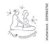 logo thai massage. silhouette...