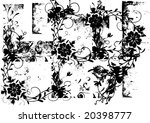grunge floral background vector | Shutterstock .eps vector #20398777