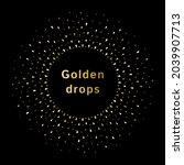 tiny golden drops  yellow... | Shutterstock .eps vector #2039907713