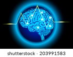 the concept of thinking... | Shutterstock .eps vector #203991583