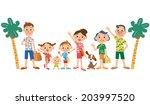 i travel in good friend families | Shutterstock .eps vector #203997520