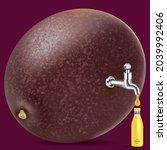 fruit juice distilled from... | Shutterstock .eps vector #2039992406