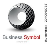 abstract business symbol  3d...   Shutterstock .eps vector #2040040793