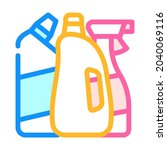 domestic chemical and detergent ...   Shutterstock .eps vector #2040069116