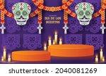day of the dead  dia de los...   Shutterstock .eps vector #2040081269