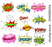 comic bubbles vector isolated... | Shutterstock .eps vector #204008326