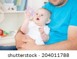 baby playing | Shutterstock . vector #204011788