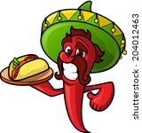 Mexican Pepper With Tacos