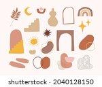 set of hand drawn organic...   Shutterstock .eps vector #2040128150