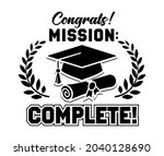 mission compete. lettering... | Shutterstock .eps vector #2040128690