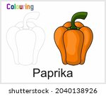 colouring for paprika for child    Shutterstock .eps vector #2040138926