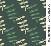simple floral seamless pattern... | Shutterstock .eps vector #2040182600