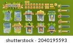 jungle stone ui game set  user...