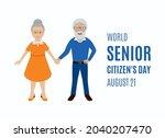 world senior citizen's day...   Shutterstock .eps vector #2040207470
