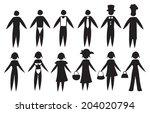 vector illustration of black... | Shutterstock .eps vector #204020794
