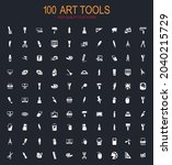 art tools big collection of...