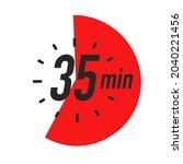35 minutes timer symbol color... | Shutterstock .eps vector #2040221456
