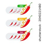 spicy chilli level vector label ... | Shutterstock .eps vector #2040221480