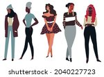 clothes and apparels for ladies ...   Shutterstock .eps vector #2040227723