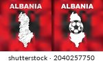albanian abstract map set with... | Shutterstock .eps vector #2040257750