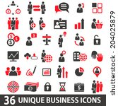 set of 36 business icons in two ... | Shutterstock .eps vector #204025879