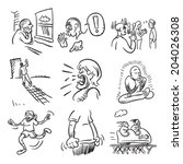 feel these emotional doodles | Shutterstock .eps vector #204026308