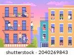 colorful modern cityscape... | Shutterstock .eps vector #2040269843