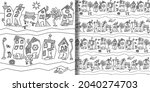 print and seamless pattern set... | Shutterstock .eps vector #2040274703