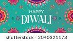happy diwali hindu festival... | Shutterstock .eps vector #2040321173