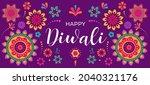 happy diwali hindu festival... | Shutterstock .eps vector #2040321176