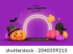 happy halloween background....   Shutterstock .eps vector #2040359213