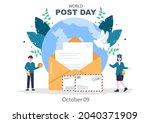 World Post Day Background Which ...