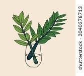 simplicity zanzibar gem plant... | Shutterstock .eps vector #2040378713