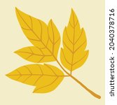simplicity maple leaf freehand... | Shutterstock .eps vector #2040378716