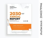 business annual report template ... | Shutterstock .eps vector #2040379946