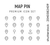 premium pack of map pin line...