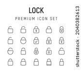 premium pack of lock line icons....