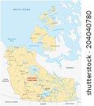 northwest territories map | Shutterstock .eps vector #204040780